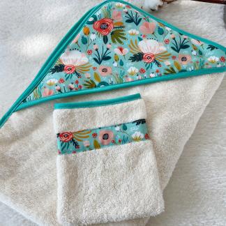ensemble gant de toilette et drap de bain coton bio