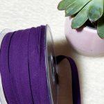 Biais Popeline violet foncé