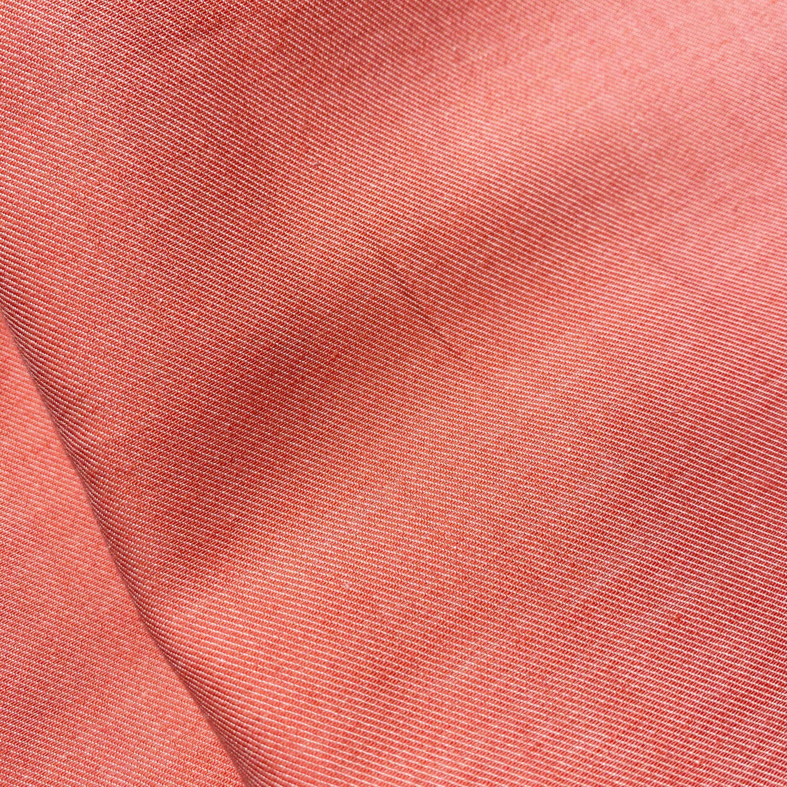 chambray coton bio GOTS couleur corail