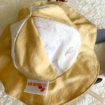 chapeau soleil enfant personnalisable bicolore coton bio