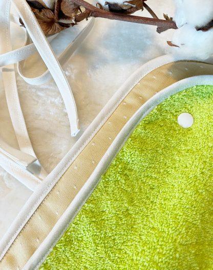 détail intérieur tapis de change de voyage nomade personnalisable tissus coton bio