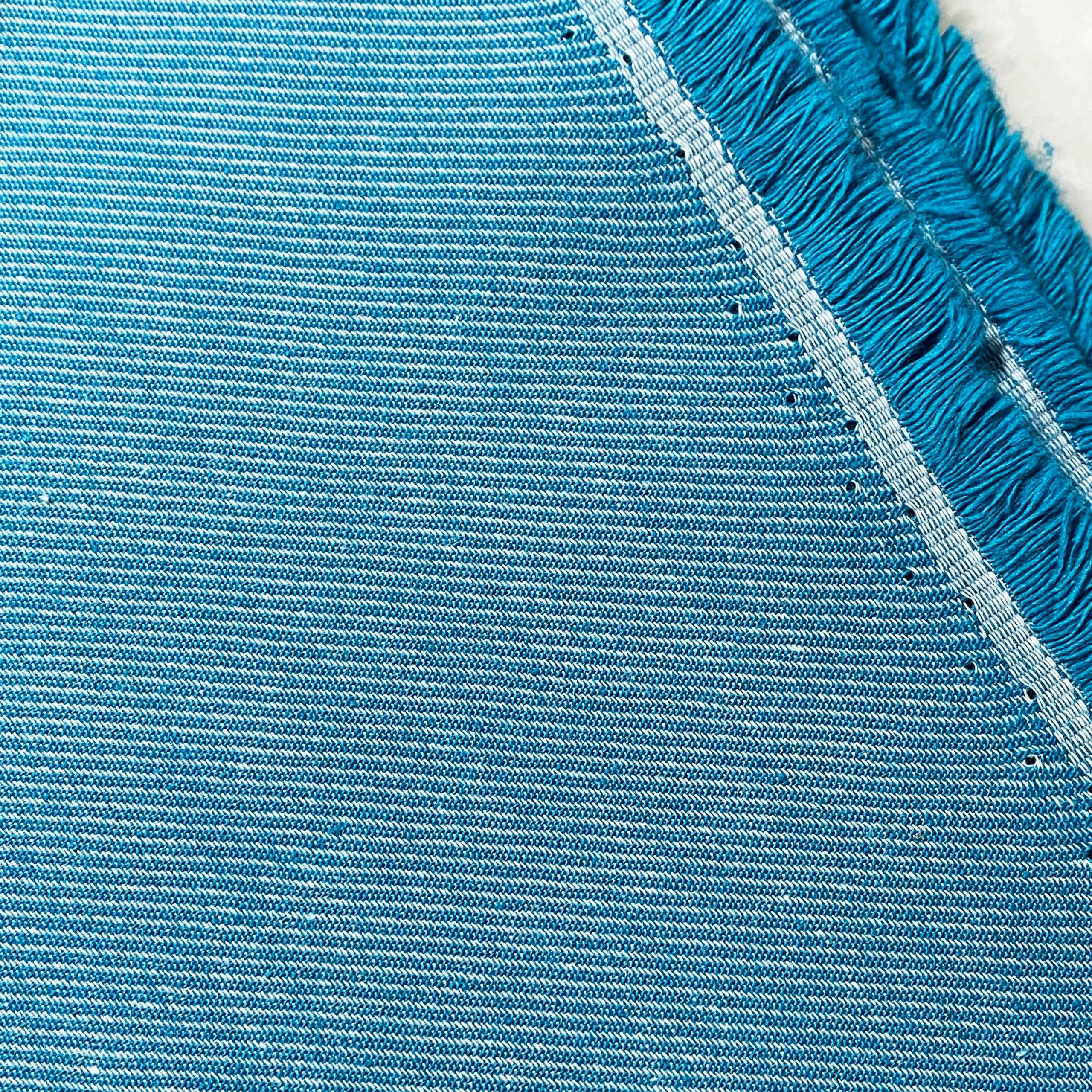 denim coton bio bleu lagune