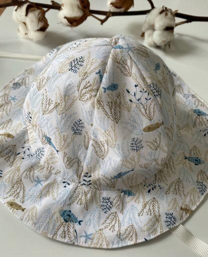chapeau de soleil enfant personnalisable tissus coton bio