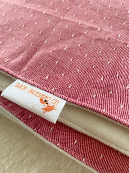 plaid couverture enfant bébé tissu bio