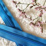 Fermeture à glissière bleu