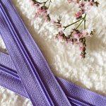 Fermeture à glissière lilas