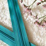 Fermeture à glissière bleu turquoise