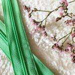 Fermeture à glissière vert clair