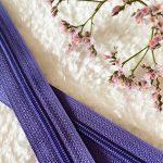 Fermeture à glissière violet
