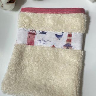 gant de toilette personnalisable pour enfant et bébé en éponge de coton bio