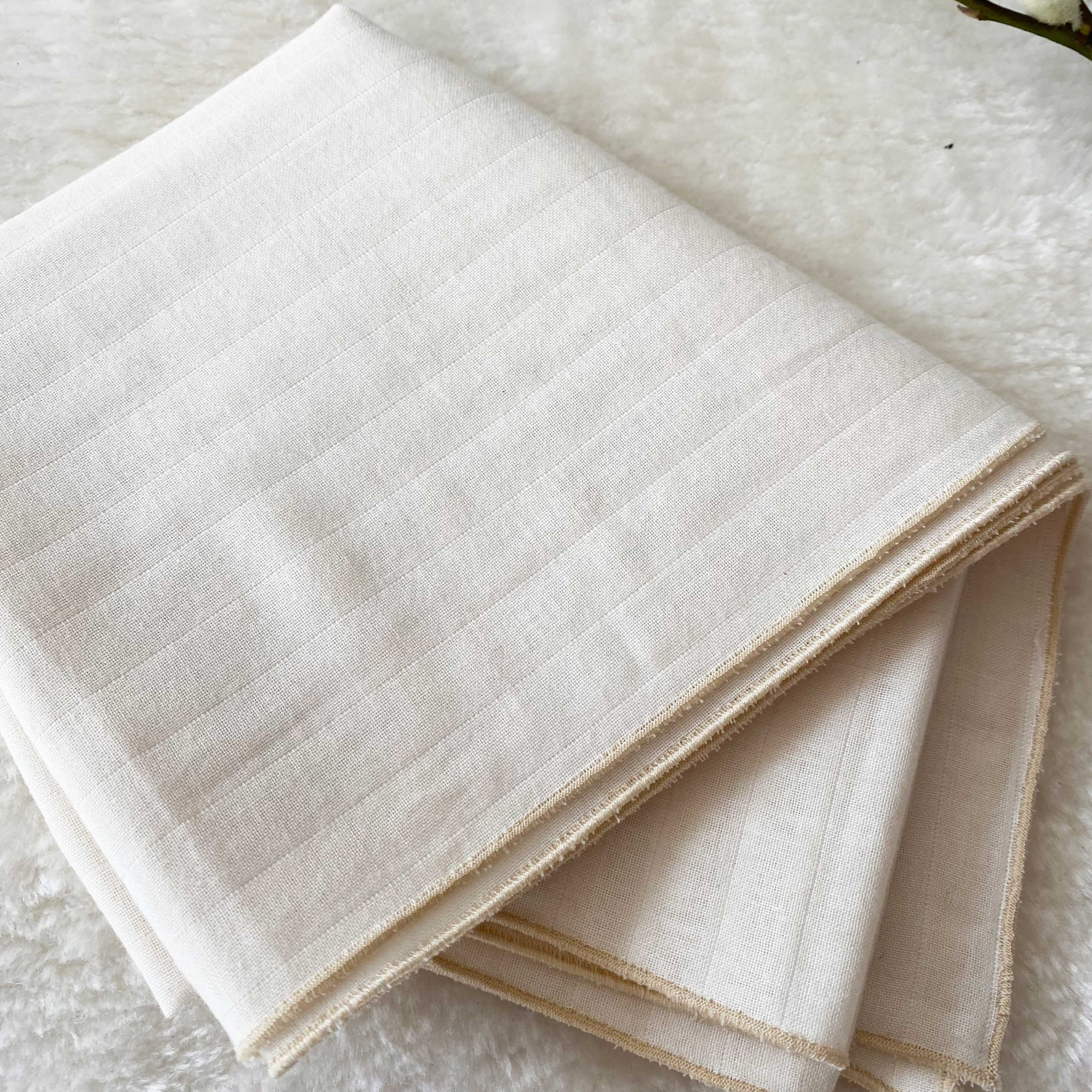 Lange tissu couleur écru