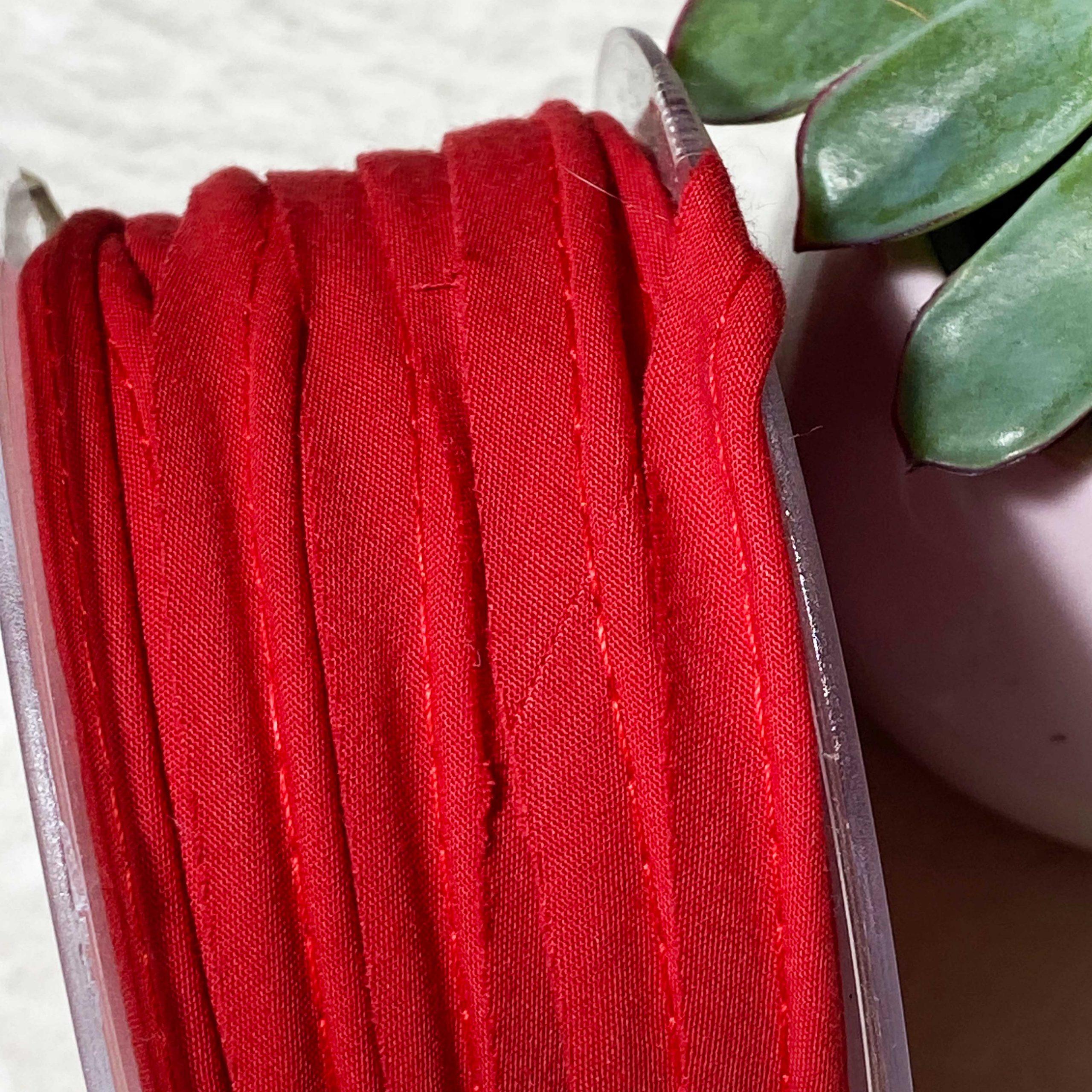 Passepoil bio Popeline rouge