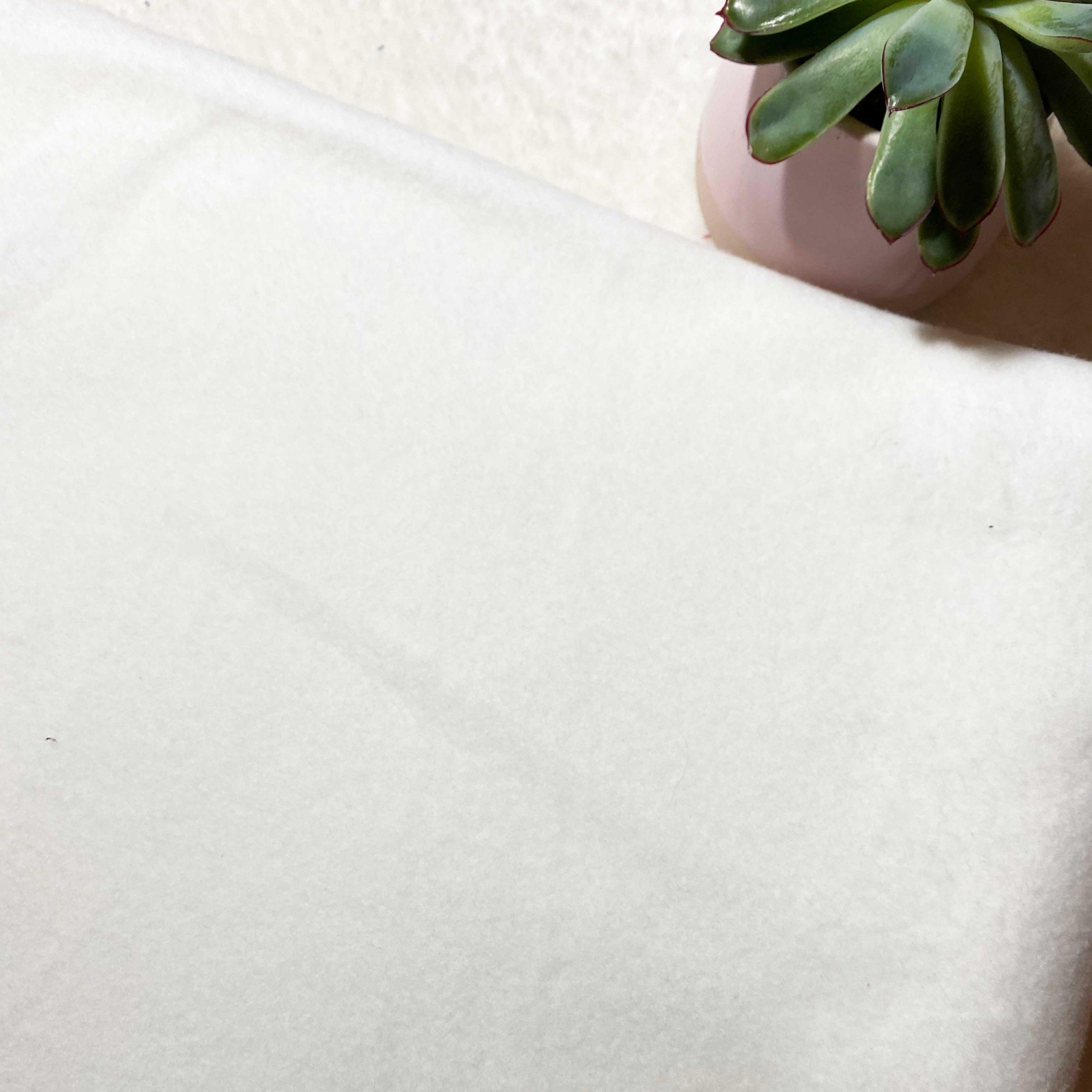 Polaire de coton bio Blanche