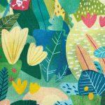 popeline bio jungle colorée perroquet