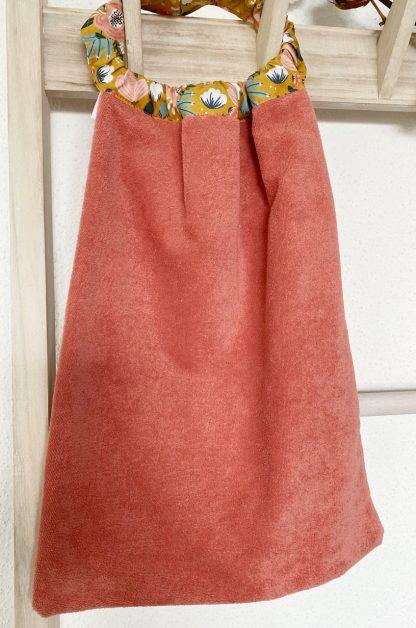 serviette enfant avec élastique pour table cantine en coton biologique personnalisable