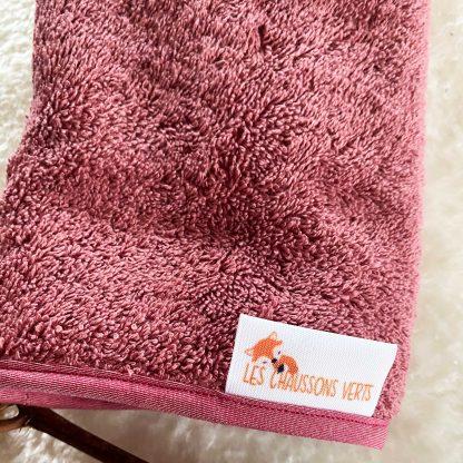 Zoom sur la Serviette pour tapis de change nomade, tissu éponge bordeaux