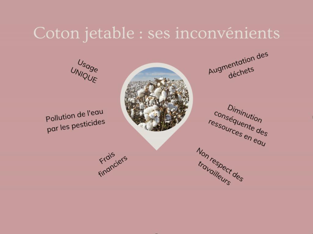 Schéma explicatif des méfaits du coton jetable