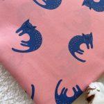 tissus bio laminé chats