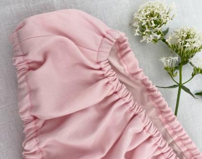 bloomer bébé tissus bio rose layette