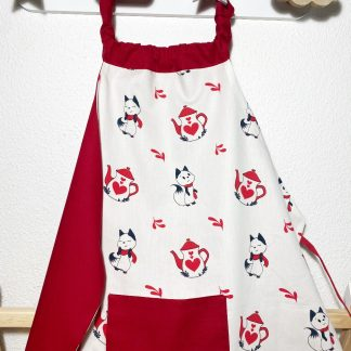 tablier cuisine enfant avec poche tissu bio