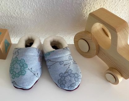 chausson bébé en tissu bio