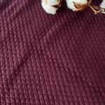 jersey matelassé bio coloris lie de vin bordeaux foncé