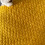 jersey matelassé biologique couleur moutarde