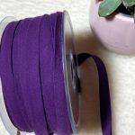 biais popeline bio violet foncé