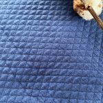 jersey matelassé bleu roi
