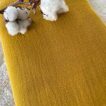 double gaze coton bio jaune