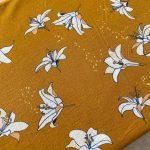 popeline bio jaune fleur de lys